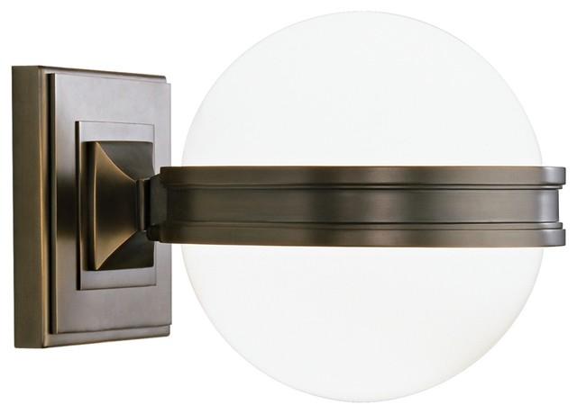 Art Deco Robert Abbey Orbit Bronze Wall Sconce - Modern - Wall Lighting - by Lamps Plus