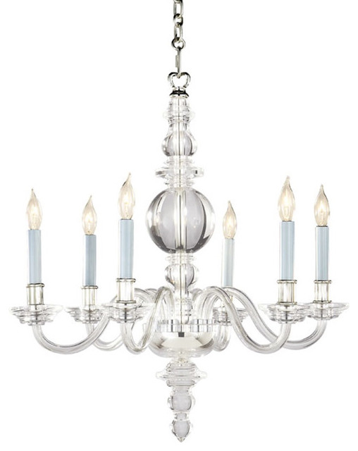 Chart House Small George II Chandelier in Crystal with