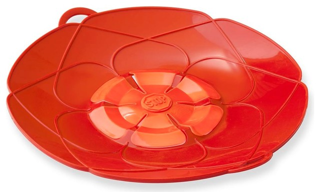 """Kuhn Rikon Spill Stopper Over Boil Protector 12"""" Red modern-specialty-kitchen-tools"""