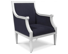 Navy Regent Armchair modern-armchairs-and-accent-chairs