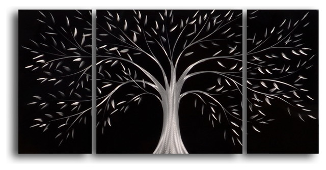 Metal Wall Art Decor Abstract Contemporary Modern Sculpture Moonlit gothic tree contemporary-prints-and-posters