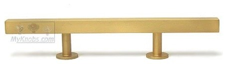 Lews Hardware Bar Pull Collection, Brushed Brass contemporary-pulls