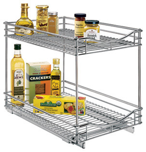Roll-Out Double Drawers contemporary-kitchen-drawer-organizers
