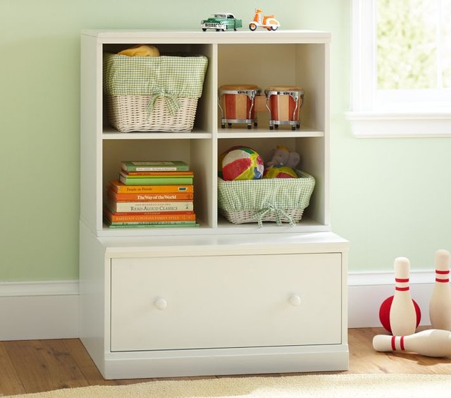 Cameron Cubby & Drawer Base | Pottery Barn Kids traditional-toy-organizers