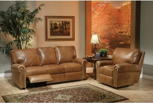 kathy ireland Home by Omnia Furniture Fairfield Leather Recliner