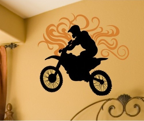 Dirt Bike Wall Decal modern-kids-decor
