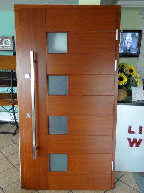 Modern exterior door model 000 modern front doors for Modern exterior house entrance