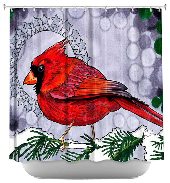 Shower Curtain Artistic Cosmo Cardinal Contemporary Shower Curtains By Dianoche Designs