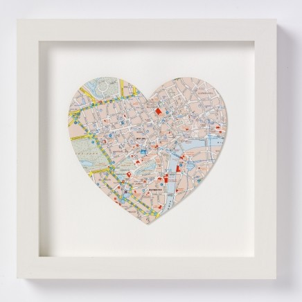 Vintage Map Heart modern-artwork