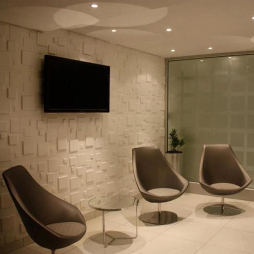 3d wallpanels in murray and robert office modern wall