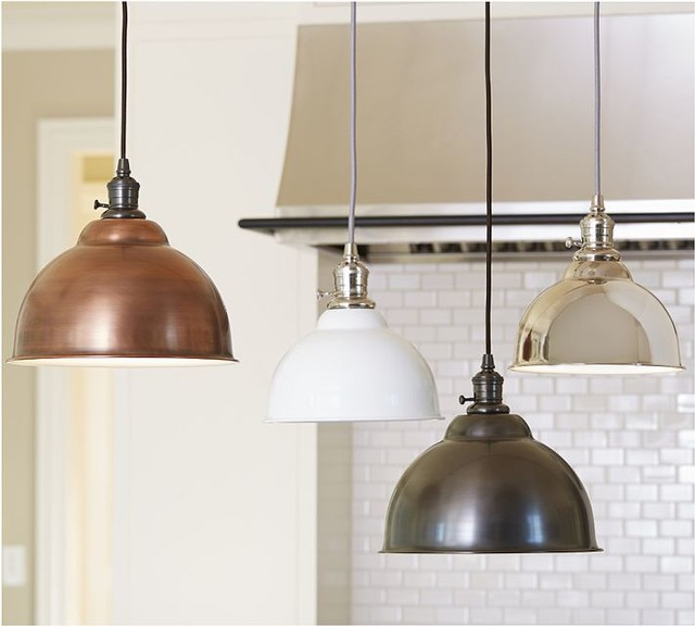 Pb classic pendant metal bell copper finish industrial pendant lighting sacramento by - Industrial lighting fixtures for kitchen ...