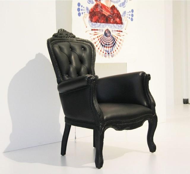 Moooi Smoke Armchair: Smoke Chair by Maarten Baas contemporary-accent-chairs