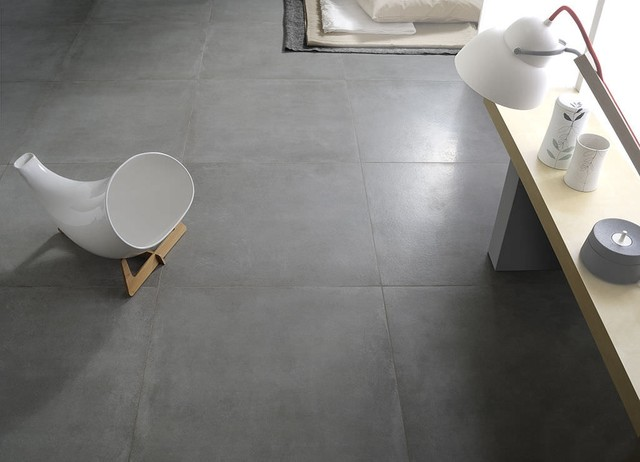 Bathroom Porcelain Stoneware Floor Tile Concrete Look