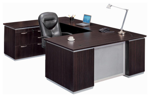 Pimlico Left Personal File U-Shape Executive Desk (Flat Pack) - Modern - Home Office Accessories