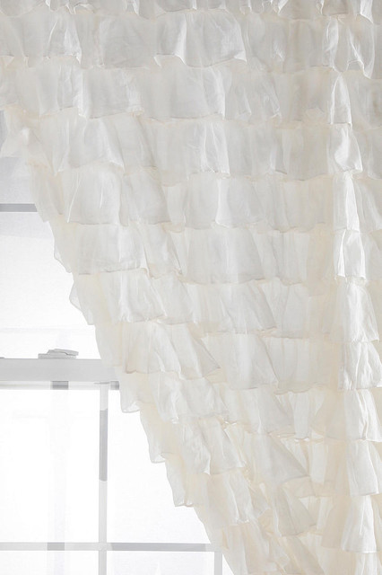 Waterfall Ruffle Curtain eclectic curtains