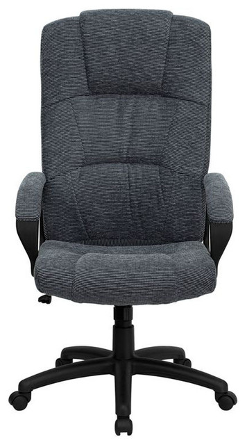 High Back Grey Fabric Executive Office Chair Contemporary Office Chairs