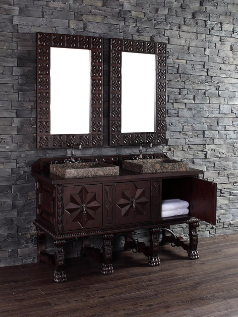 """60"""" Balmoral Double Sink Vanity traditional"""
