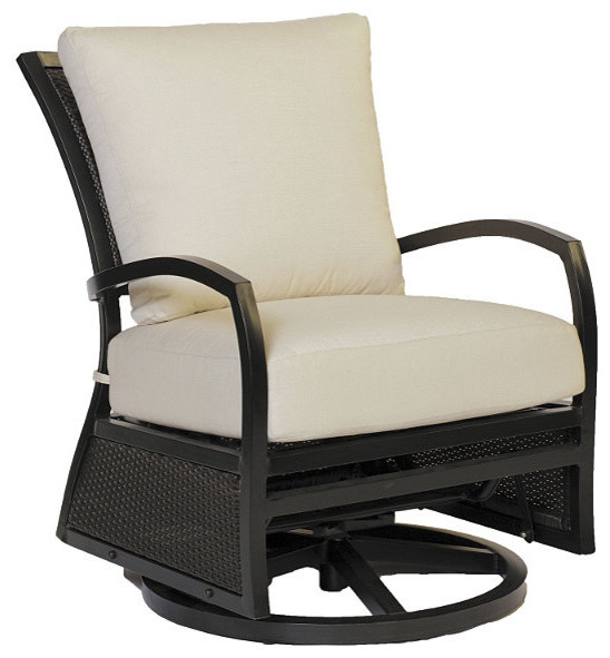 Aire Swivel Outdoor Glider with Cushion Patio Furniture Traditional Outd