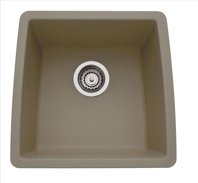 Blanco 441288 performa silgranit ii truffle kitchen sink for Silgranit ii sinks