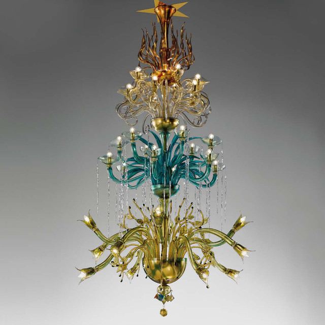 """Topdomus and De Majo Murano """"Traditional Collection"""" chandeliers"""