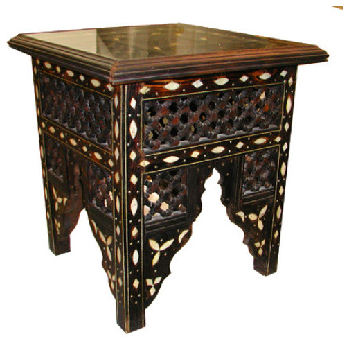 Moroccan Grill Table Traditional Side Tables And End