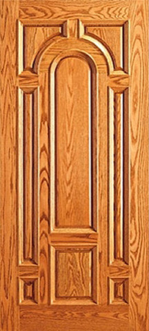Entry mahogany wood 8 panel raised moulding single door for New single door design