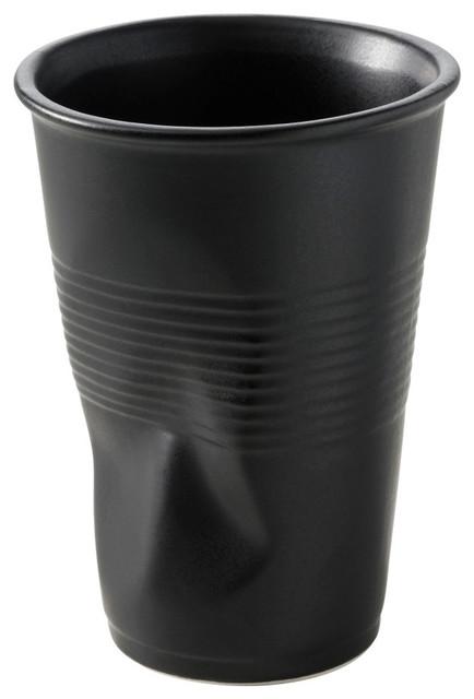 Revol Porcelain Froisses Crumple Water Goblet contemporary-mugs
