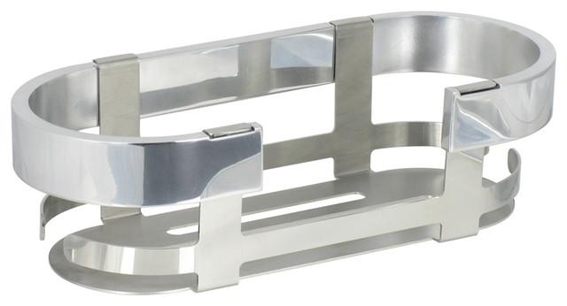 Materia Shower Container in Shiny Aluminium contemporary-shower-caddies