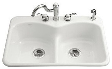 Langlade Smart Divide Self Rimming Kitchen Sink with Three Hole Faucet Drilling modern-bath-products