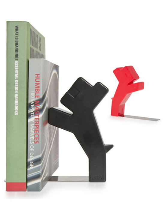 j-me Original Design - They say a dog is a man's best friend, so why not let him help you hold your books? The Buddy Bookend is a unique and stylish answer to holding your books in place. Buddy stands up on his hind legs and stays upright by putting his front paws on your novels, biographies and other reading material. Ideal for holding books at home or in the office, Buddy will keep your bookshelf organized and eye-catching!