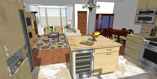 Bungalow Open Concept Kitchen Renovation contemporary