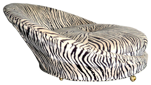 1970s zebra print chair contemporary indoor chaise for Animal print chaise lounge furniture