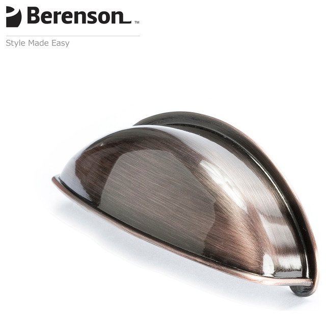 9711-1BAC-P Brushed Antique Copper Decorative Cup Pull by Berenson - Transitional - Cabinet And ...