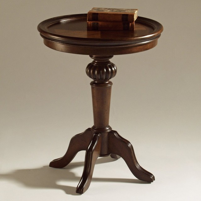 The Magnussen T1255 Ferndale Wood Pedestal Accent Table is a small, traditio traditional-side-tables-and-end-tables