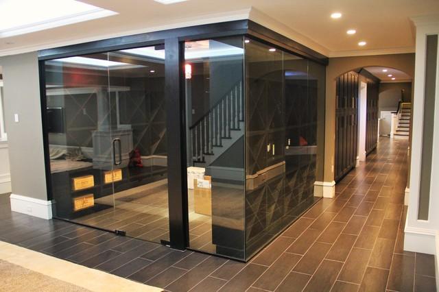 CustomWorks Contracting, LLC contemporary-wine-cellar