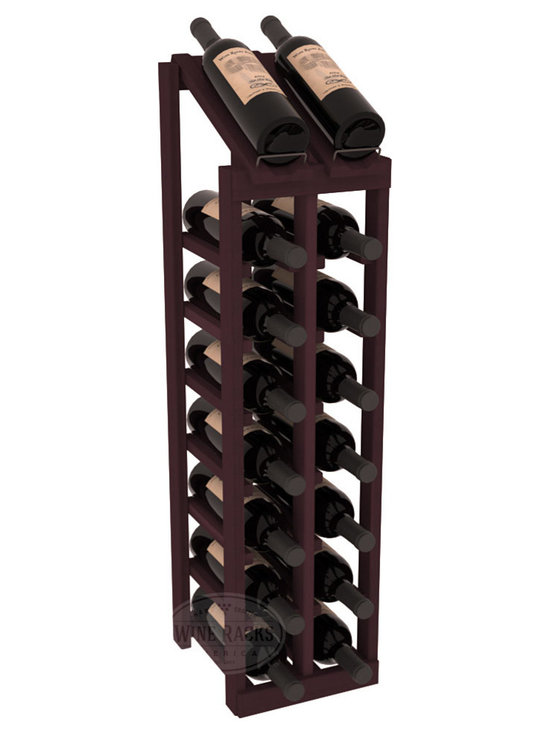 Wine Racks America - 2 Column 8 Row Display Top Kit in Redwood, Burgundy Stain - Display your best vintage while efficiently storing 16 wine bottles. This slim design is a perfect fit for almost any space. Our wine cellar kits are constructed to industry-leading standards. Display top wine racks are perfect for commercial or residential environments.