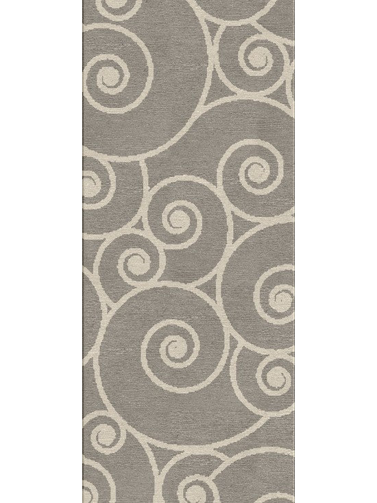 Jaipur Rugs - Abstract Pattern Gray /Black Indoor/ Outdoor Rug - CI10, 2.6x8 - Navigate towards a fresh new approach to indoor-outdoor rugs with Jaipur's cheerful Coastal Living Indoor-Outdoor Collection. This bold range takes its styling cues from the ruggedly chic aesthetic of a casual seaside lifestyle. Polypropylene construction allows the durability needed for outdoor use and a relaxed sense of style equally at home, indoors or out.