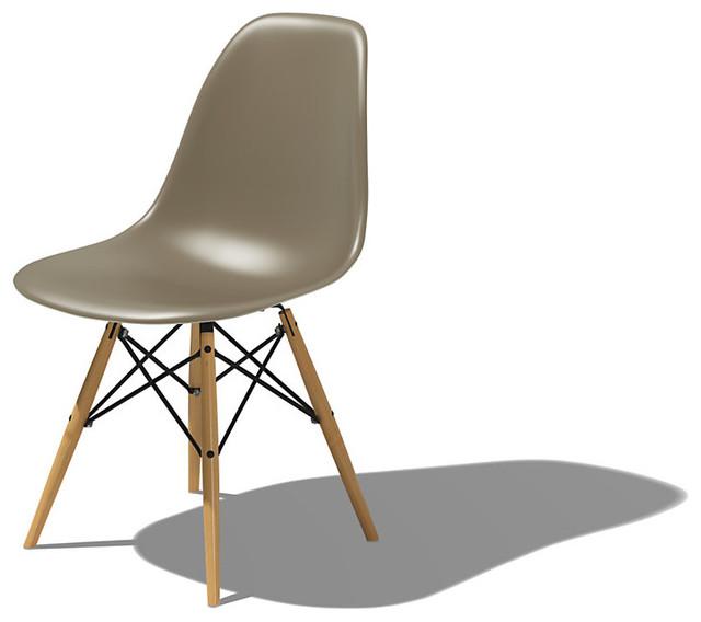 Eames dowel leg side chair modern dining chairs by for Eames dowel leg side chair