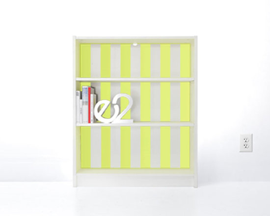 PANYL Day Glo Thick Stripes for IKEA BILLY - Give your bookcase a bold new look with PANYL Thick Stripes. Easy to apply and no mess!