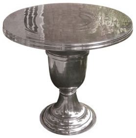 Hand-Cast Aluminum Table traditional-side-tables-and-end-tables