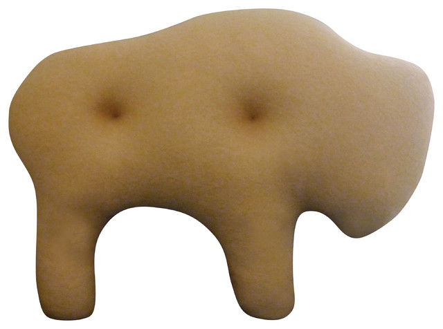 Animal Crackers Pillow - Buffalo contemporary-decorative-pillows