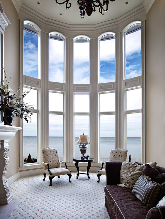 Curved Window Treatment -