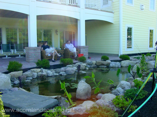 Garden Ponds, Fish Ponds, Koi Ponds, Waterfall Ponds Rochester NY by Acorn traditional-landscape