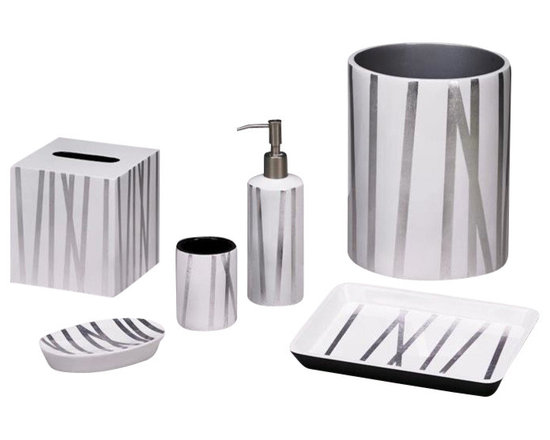 "Belle & June - Grass Styx White/Silver Boutique Tissue Holder - Dimensions Tissue Holder:  5"" x 5"" x 5"""