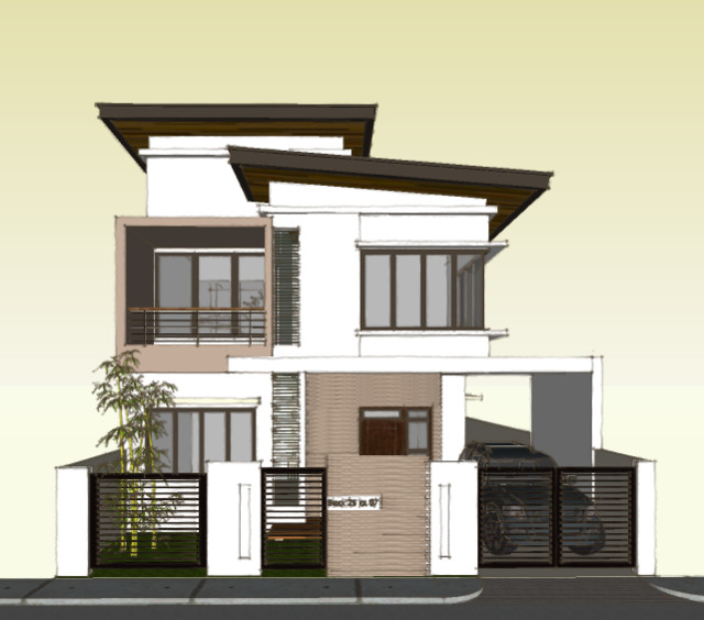 Modern house with roof deck modern bedroom sets design ideas Modern 2 storey house