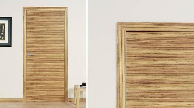 Zebrano, flush with concealed adjustable hinges - C25 modern-interior ...