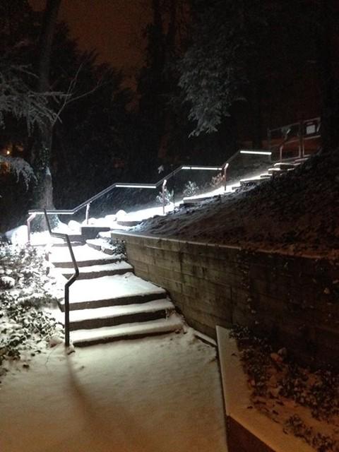 Illuminated Handrails Contemporary Outdoor Lighting