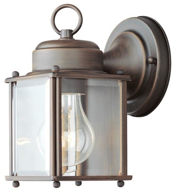 Livex Lighting-2005-Outdoor Basics - One Light Outdoor Wall Sconce traditional-outdoor-lighting