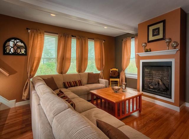 custom cape cod home living room