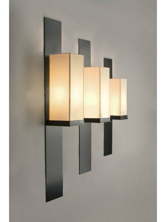 Modern KART Iron and Fabric Wall Sconce - Modern KART Iron and Fabric Wall Sconce